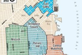 San Francisco Neighborhoods Map by Brace Nimby U0027s Eastern Neighborhood Plan Approved Today Curbed Sf
