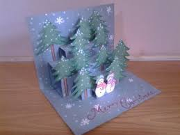 pop up christmas cards diy 3d christmas pop up card easy how to make tcraft
