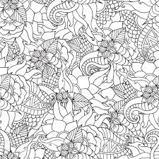 coloring pages adultsdecorative hand drawn doodle nature