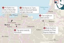 Beirut On Map Uber Driver U0027admits Murdering British Diplomat Rebecca U0027 In