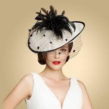 serre tãªte mariage chapeau femme mariage original latéral à fleur en blanc