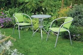 Grey Bistro Chairs Uk Gardens 3 Bistro Set For 2 Green And Grey Stacking