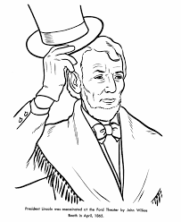 free printable coloring pages of us presidents usa printables president abraham lincoln tophat coloring 16th