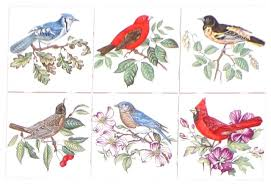 Ceramic Tile Mural Backsplash by Song Birds Kiln Fired Ceramic Tile Backsplash Blue Bird Cardinal