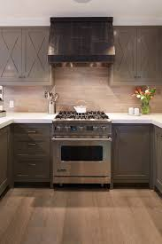 Grey Washed Cabinets Taupe Cabinets Contemporary Kitchen Artistic Designs For Living