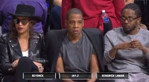 Beyonce Jay Z Memes - beyonce went to a clippers game with kendrick lamar and jay z and