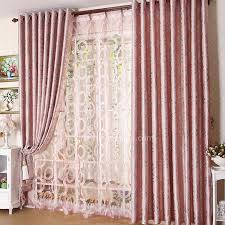 Pink Velvet Curtains Fancy Pink Colored Energy Saving Country Panel Curtains