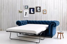 Blue Velvet Chesterfield Sofa Velvet Sofa Bed Bonners Furniture