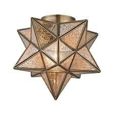 Moravian Light Fixtures by Moravian Gold Star Flush Mount Tn 998365 The Home Depot