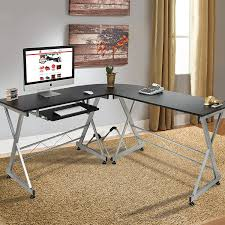 Wooden Table L Best Choice Products Wood L Shape Corner Computer Desk