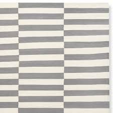 broken stripe flatweave rug gray williams sonoma
