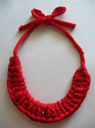trellis ladder yarn necklace instructions crocheted t shirt yarn collar necklace pattern emailed within 24