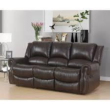 abbyson living bradford faux leather reclining sofa dark brown