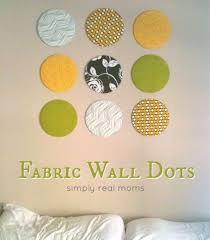 Yellow Home Decor Fabric Diy Fabric Wall Dots Hometalk
