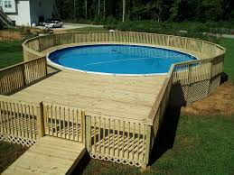 Backyard Decks Images by Decorating Beautiful Design Of Outdoor Above Ground Swimming Pool