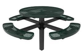 round plastic picnic table furniture rhino round pedestal thermoplastic metal picnic tables