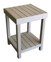 Recycled Plastic Patio Furniture Recycled Plastic Outdoor Furniture Deck Tables Patio End Tables