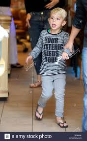 kingston rossdale leaving a nail salon with his mother in west
