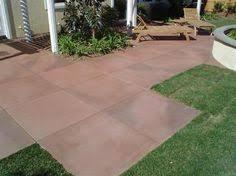 Patio Concrete Tiles Earthy Browns Diagonal Tile Patio Concrete Art Transforms Plain