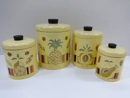 yellow canister sets kitchen canister set metal canister set yellow canister set pineapple