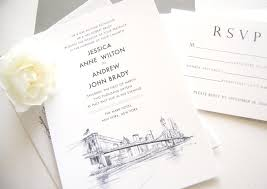 wedding invitations new york new york skyline wedding invitations