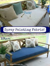 How To Fix Wicker Patio Furniture - spray painting fabric the happier homemaker