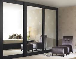 Espresso Closet Doors Minimalist Bedroom Decor With Architectural Mirror Sliding Closet