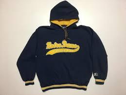 vintage notre dame starter script hoodie sweatshirt lacrosse