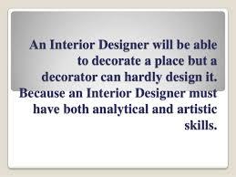 Interior Design vs Interior Decoration