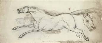study of a galloping horse and subsidiary sketches of a horses