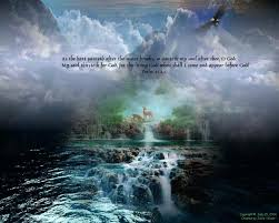 waterfalls beautiful sky clouds scripture coming christian rock