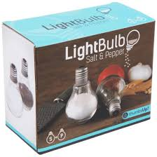 novelty salt and pepper shakers light bulb salt and pepper shakers find me a gift