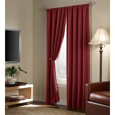 Textured Cotton Tie Top Drape decorating drape curtains pottery barn drapes navy white curtains
