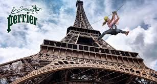 The Eiffel Tower by Perrier Launches A Zip Line From The Eiffel Tower To Celebrate