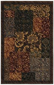 flooring brown with floral design area rugs lowes for