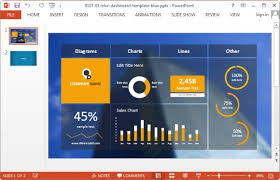 project management powerpoint templates project dashboard template