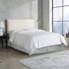 Cal King Headboard Talc Linen Seam California King Headboard Bedroom Sources