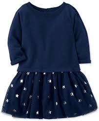 carter u0027s star print tutu dress toddler girls 2t 5t dresses