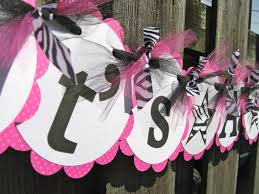 best 25 banner design ideas plain ideas pink zebra baby shower extravagant best 25 showers on