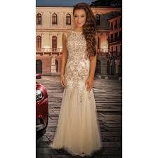 champagne mermaid prom dress high neck mermaid prom dress