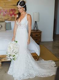 summer wedding dresses v neck mermaid lace summer wedding dress bohemian