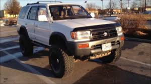 old toyota lifted 1997 toyota 4runner lifted 6 inches on 35s youtube