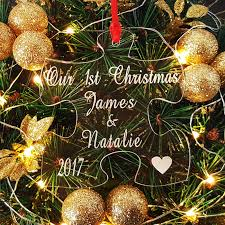 Couple First Christmas Ornament Personalised Gifts For Couples By Truly Personal
