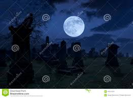spooky screensavers spooky night at cemetery with old gravestones full moon and bla