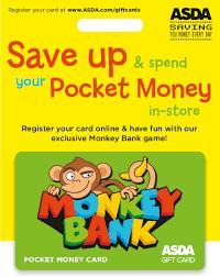 money cards monkey bank pocket money card asda cards