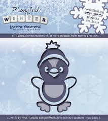 yvonne creations playful winter penguin other christmas dies