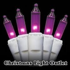 100 mini purple christmas tree string incandescent light set 27ft