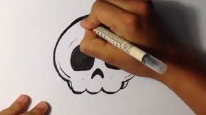 how to draw a cute skull halloween drawings youtube