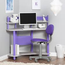 Purple Table L Studio Designs Study Corner Desk Purple Hayneedle