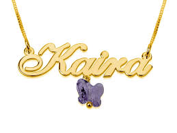 chain name necklace images Plated name necklace with small pendant jpg